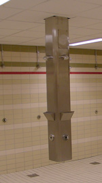 Rustfritt dusjtårn Rada - Firkantet modell