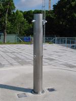 Rustfritt dusjtårn Rada - Rund modell