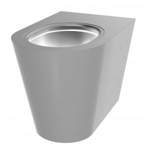 Toalett Rustfritt stål Gulvstående Delabie